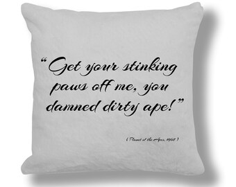 Planet of the Apes 1968 Film Quote Cushion Cover (FQ044)