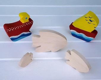 Wooden Toys - Animal Family - Fish