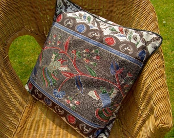Pillows with Batik flowers and birds