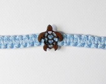 Adjustable braided turtle Cotton bracelet