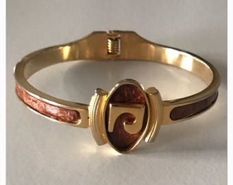 Pierre Cardin vintage bracelet with leather