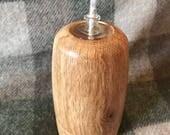 Yorkshire Oak Oil Lamp grooved