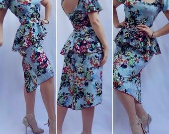 Asian Flowers Tango Dress