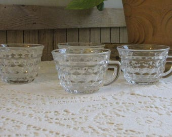 Fostoria American Punch Cups Vintage Dinnerware and Replacements Set of Four (4)