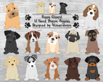 Cute Puppy Clipart Puppy Dog Clipart Pet Scrapbook Clipart Graphics Puppy Birthday Party Clipart Puppy Illustration Digital Puppies Clip Art