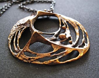Sten and Laine Spider Web Pendant and Chain – Sten and Laine Necklace - Finnish Finland - Large size Pendant.