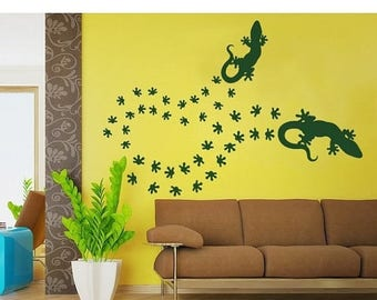 20% OFF Summer Sale Geckos wall decal, sticker, mural, vinyl wall art