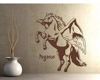 20% OFF Summer Sale Pegasus wall decal, sticker, mural, vinyl wall art