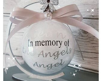 Personalised Memorial family or infant loss decoration bauble