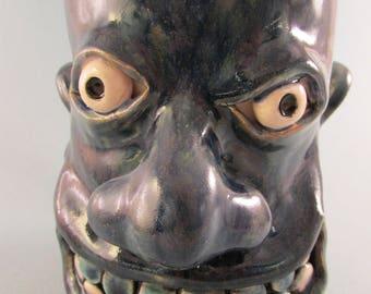 Folk Art Face Mug
