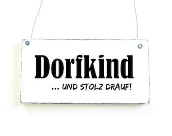 DORFKIND Dekoschild Door Wooden shield