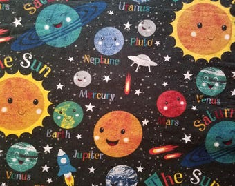 Planets Flannel (1 yard 35 inches)