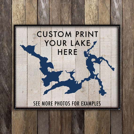 Lake Home Decor: Custom Lake House Sign Lake House Decor Lake Life Print