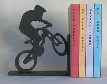 Extreme Bike Rider Silhouette Bookend - 19.95