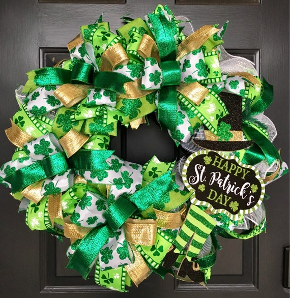 St Patricks Day, St Patricks Day Wreath, Leprechaun Wreath, St Patricks Wreath, Spring Wreath, Green Wreath, Irish Wreath, Shamrock Wreath