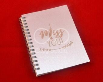 zilveren notitieboekje, aangepaste notitieboekje, A5 spiraal notitieboekje, cadeau voor moeder, dagboek, dagboek, onderwerp notitieboekje