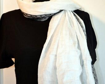 white scarf cotton