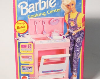 Vtg 1992 Mattel Barbie Cooking Center #9318- New in Sealed Box