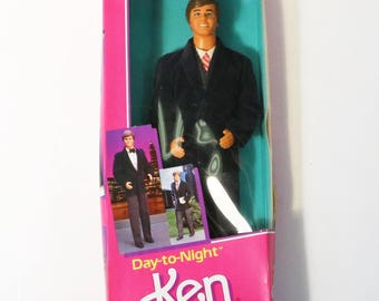 Vintage Mattel Barbie 1984 Ken Day-to-Night Doll #9019 Outfit Change NRFB New