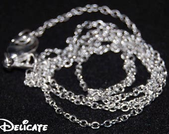 """LONG Delicate Silver Necklace 925 Necklace Chains 18"""" 20"""" 22"""" 26"""" 28"""" 30"""""""