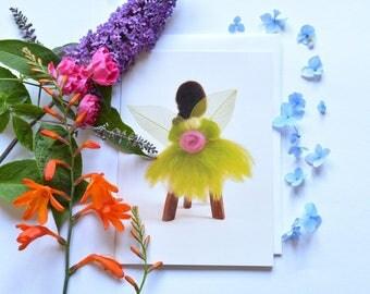 Greeting card - blank - Fairy - birthday card