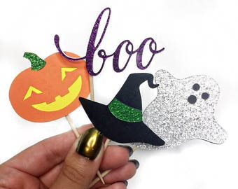 Halloween Cupcake Toppers, October Cupcake Topper, Halloween Party Decorations, Fall Party Decor, Pumpkin Party Decorations, Halloween Decor