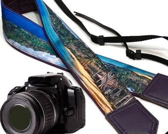 Ocean Camera Strap. Beach camera strap. Camera accessories. DSLR/ SLR Camera Strap. Photographer gift by InTePro