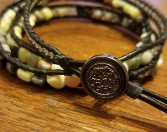 3x leather wrap bracelet