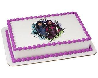 Descendants Auradon Cool Edible Cake or Cupcake Toppers - Choose Your Size