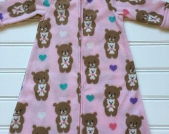 Pink Baby Sleep Sack, Baby Sleeper, Baby Sleeping Bag, Toddler Sleep Sack, Wearable Blanket, Blanket Sleeper