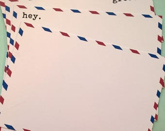 Set of 10 A6 Correspondence Cards Airmail Themed