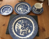 Churchill Blue Willow 5 pc place setting, service for four