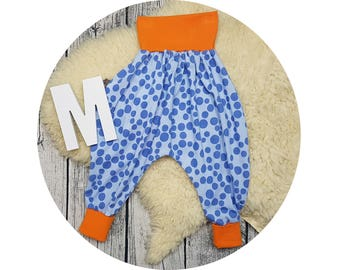 Harem pants, baby pants, baby, pants, Jersey pants, Mitwachsen pants, bloomers, bubbles, points