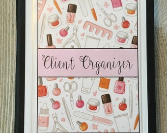Nail Technician or Manicurist Customer Organizer -  Nail Tools Design