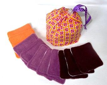 Set of 10 wipes cleansing / orange