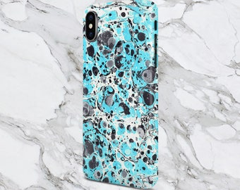 iPhone X case - iPhone 8 Plus - Protective iPhone Case - Galaxy s8 case - Google Pixel 2 Case - Trippy Turquoise x Abstract Marble Swirl
