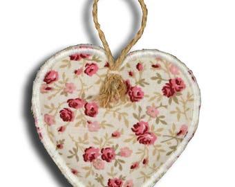 Pretty little heart hanging fabric