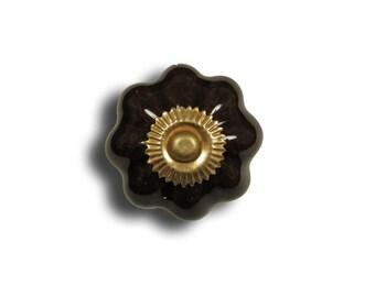 Beautiful Brown porcelain door knob