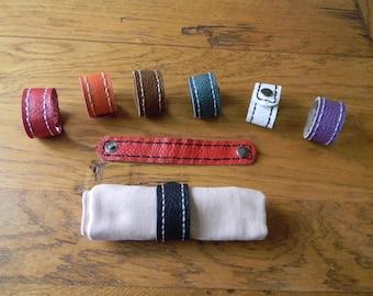 2.5 cm leather handmade napkin rings