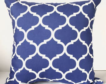 Cobolt Blue + White UV & Water Resistant Outdoor Cushion Cover