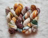 Camping, Bulky Weight Yarn, Hand Dyed Yarn( 50 percent Superwash Merino Wool, 50 percent Nylon)