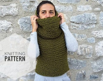 Knitting Pattern Hooded Vest : Chunky knit vest Etsy
