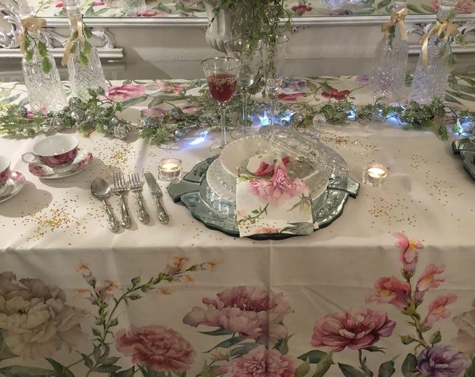 Tablecloth Flowers Shabbychic