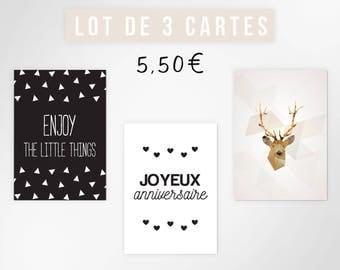 Set of 3 postcards - size A6