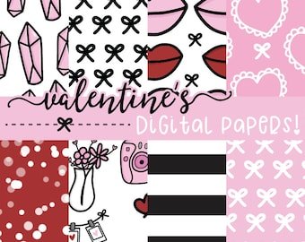 Valentine's Digital Papers | DIGITAL DOWNLOAD