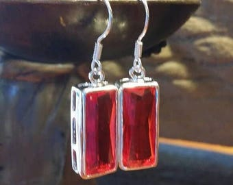 Holiday SALE 85 % OFF Red Quartz 925 Sterling Silver  Earrings Gemstone