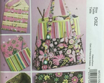 ON SALE McCall's Crafts 5722 Satchel, Circular Knitting Needle Organizer, Needle Pouch, Knitting Bag, Yarn Carry Bag, Yarn Bag, Sewing Patte