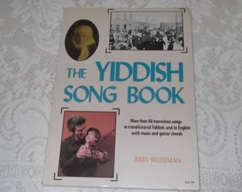 The Yiddish Song Book by Jerry Silverman (1983) - FREE SHIPPING
