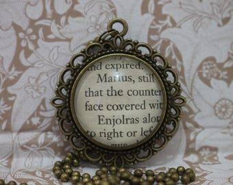 Marius ~ Enjolras Pendant ~ Les Mis ~ Les Miserables ~ Victor Hugo ~