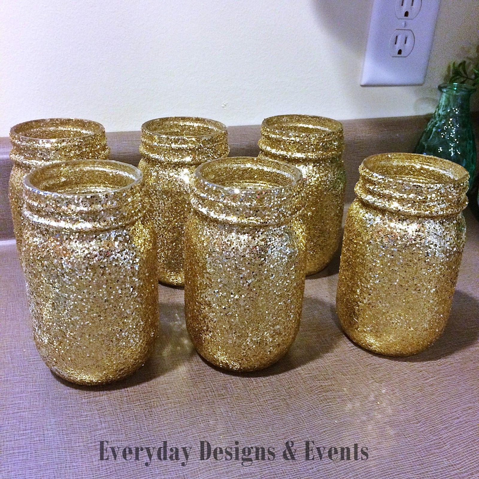 6 Mason Jar Centerpieces, Baby Shower Ideas, Baby Shower Decorations,  Wedding, Wedding Decorations, Wedding Centerpieces, Party Supplies